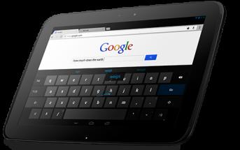 Nexus 10 front